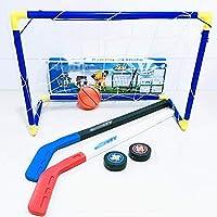 LIULU Hockey sobre Hielo Hockey Desmontable portátil Meta Infantil seleccionó Sea la Adecuada for Padres e Hijos Juguetes interactivos (Color : Blue, tamaño : 60 * 41 * 29cm)