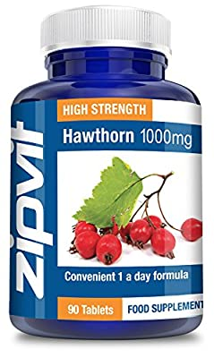 Hawthorn 1000mg, Pack of 90 Tablets, by Zipvit Vitamins Minerals & Supplements from Zipvit