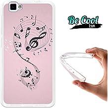 Becool® Fun - Funda Gel Flexible para Cubot X15, Carcasa TPU fabricada con la mejor Silicona, protege y se adapta a la perfección a tu Smartphone y con nuestro exclusivo diseño. Notas de música