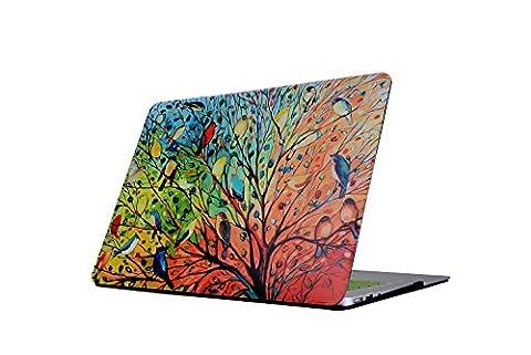Coque MacBook 12, L2W MacBook 12 pouces Fashion Art imprimé Ultra Slim Rubbersized Snap-on Hard Shell Coque housse de plastique pour MacBook 12 (modèle : A1534)-arbre de conception artistique