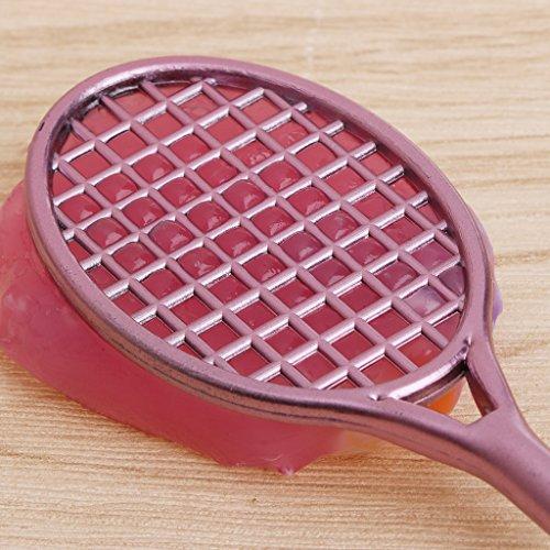 Giocare con Una Penna Gel in Gelatina Kit da Pavimento in Cristallo per Mini Racchetta da Badminton a Forma di Slime Jiay
