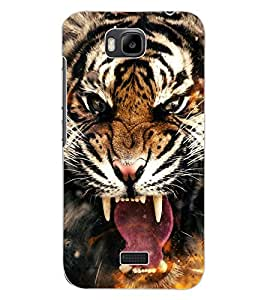 ColourCraft Roaring Tiger Design Back Case Cover for HUAWEI HONOR BEE
