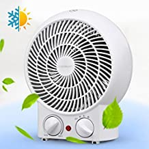 Aigostar Airwin White 33IEK- Ventilatore con termostato registrabile, doppia funzione calda e fredda, 2000 Watt, controllo surriscaldamento temperatura. Design esclusivo.