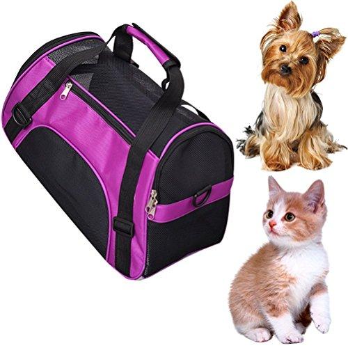 Transporttasche zerlegbar waschbar faltbar mit Schultergurt für Haustiere Hunde Katze heraus das Paket-Rucksack tragbar Umhängetasche Laptop-Tasche wasserdurchlässig an der Luft