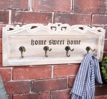 Crochet Mural Vintage Design Decoratif Porte Clés Original antique blanc décor