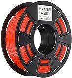 TIANSE Filamento de PLA para la impresora 3D / Pluma 3d, 1 kg 1,75 mm(Rojo)