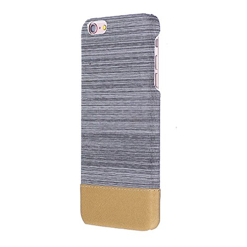 Apple iPhone 6/6S 4.7 Coque, Voguecase Rigide Plastique Shell Housse Coque Étui Case Cover(Voile Séries-Bleu foncé)de Gratuit stylet l'écran aléatoire universelle Voile Séries-Gris