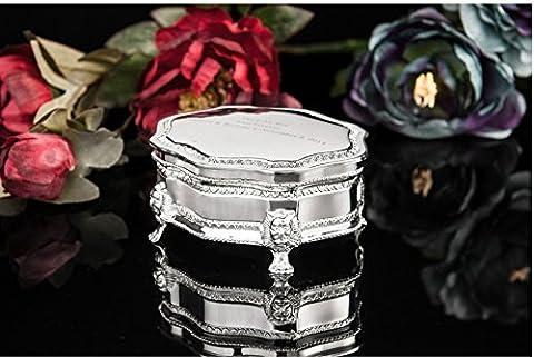 YLJE-Boîte de rangement en métal continental Palace bijoux haut boîte bijoux boîte vintage argent émail,Gu Xi