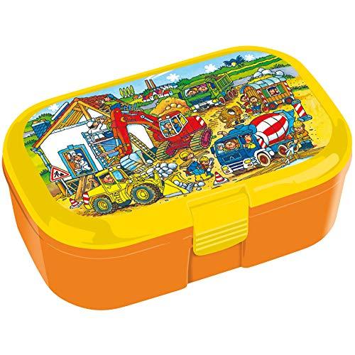 Mauder Verlag Lunchbox Baustelle Wimmelbild mit herausnehmbaren Obst und Gemüsefach (Spielzeug-betonmischer Für Jungen)
