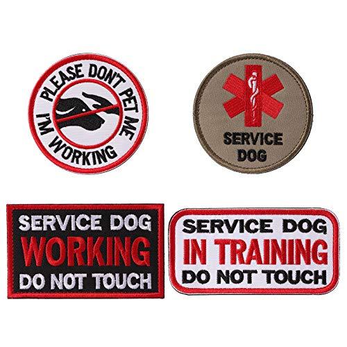 Petvins Service Dog Patch für Weste Geschirr Rucksack K9 Morale Badge Taktische Haken und Schlaufe im Training USA Rückseite Bestickt Tag, Patch E (Weit Im Westen Kostüm)