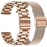 TRUMiRR Vervanging voor 36 mm Daniel Wellington armband, 18 mm mesh geweven roestvrij staal horlogeband armband voor Huawei h