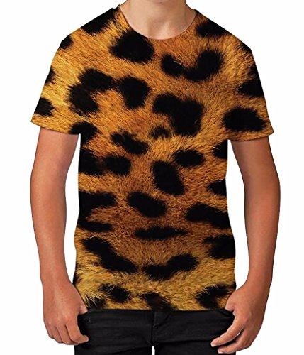 leopard-animal-print-fur-wild-cat-wildlife-summer-boys-unisex-child-t-shirt
