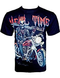 Rock Chang T-Shirt * Hell Time * Glow In The Dark * Noir GR531
