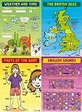 Quatre Posters pour la Classe d'Anglais en Primaire