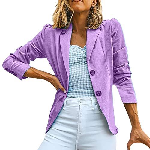 Bauarbeiter Frau Kostüm - PinkLu Blazer Damen Tailliert Solide Streetwear Pullover V-Ausschnitt Slim Fit Herbst Jacken Frau Mäntel Button Kapuzenpullover Strickjacken Elegantes Sweatshirt