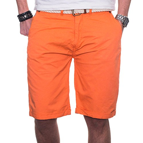 Geographical Norway Herren Chino Short Sommer Bermuda kurze Hose Shorts Corail