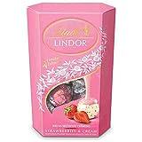 Lindt - Bombones Lindor Fresa Blanco Cornet, 200 g