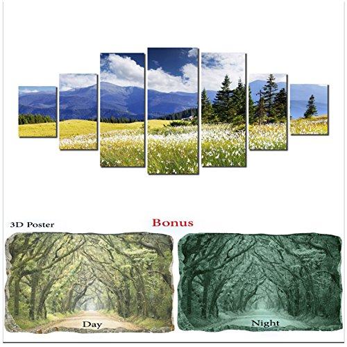 Grande décoration murale sur toile Startonight Bundle Superbe Paysage, Big encadrée Peinture, cadeau gratuit Poster 3d Vert arbres
