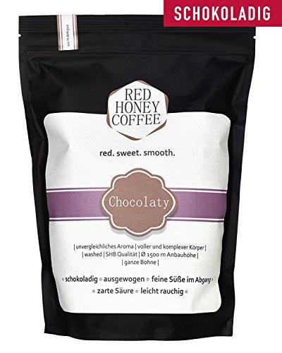 Premium Arabica Kaffee Guatemala - Red Honey Coffee - Hochland Single Origin - Gourmet Café Crema - Traditionelle Trommelröstung - Frisch Geröstet - Säurearm und Bekömmlich - Ganze Bohne 250g