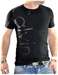 Calvin Klein - T Shirt Manches Courtes - Homme - Cmp13s - Noir
