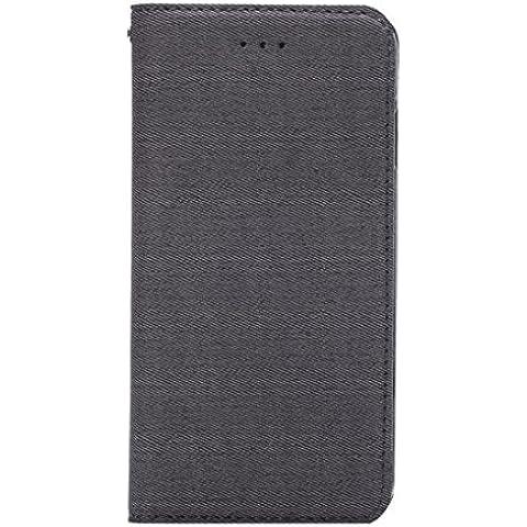 Vollter Custodia in pelle panno Stripe PU per iPhone 6 / 6S 4.7 stand coperchio dell'alloggiamento della scheda flip