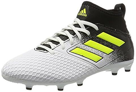 adidas Ace 17.3 FG, Chaussures de Football Entrainement Mixte Enfant, Blanc (Footwear White/Solar Yellow/Core Black), 34 EU