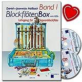 Blockflötenbox Band 1 mit 2 CDs - Sopranblockflötenlehrgang für Kinder von Daniel Hellbach - Überarbeitete und verbesserte Neuauflage - mit herzförmiger Notenklammer