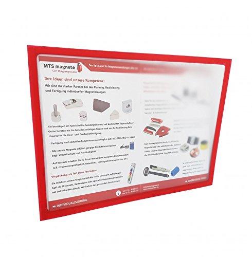 Magnetrahmen A4 zum Aufhängen von Plänen, Übersichten usw. an Whiteboards oder Tafeln