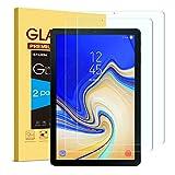 SPARIN [2 Stück Samsung Galaxy Tab S4 Schutzfolie, Displayschutzfolie Panzerglas mit [9H Härte] [Anti-Kratzen] [Blasenfrei] [2.5D Rand] [HD Klar] für Samsung Tab S4 T830/T835 10.5 Zoll 2018