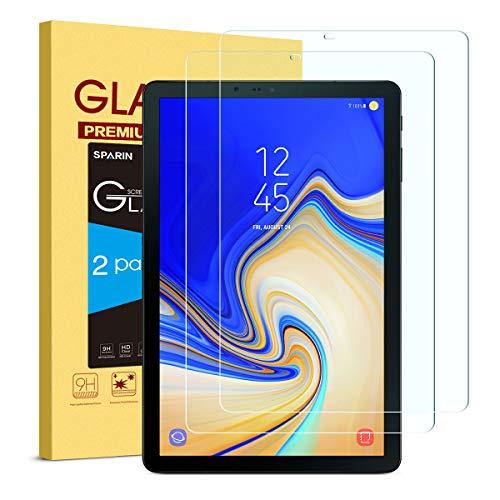galaxy tab 4 display SPARIN [2 Stück Samsung Galaxy Tab S4 Schutzfolie, Displayschutzfolie Panzerglas mit [9H Härte] [Anti-Kratzen] [Blasenfrei] [2.5D Rand] [HD Klar] für Samsung Tab S4 T830/T835 10.5 Zoll 2018