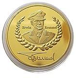 2.Weltkrieg Afrika Korps - Kommandeur Erwin Rommel Münze / Medaille