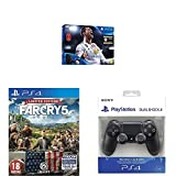 PlayStation 4 (PS4) - Consola 500 GB + FIFA 18 (World Cup) + Far Cry 5 - Edición Limitada (Exclusiva Amazon) + Sony Dualshock 4 V2 Mando Inalámbrico, Color Negro V2 (PS4)