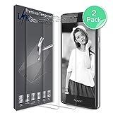 Protection écran Huawei Honor 6C, LK [2 Pièces] Verre Trempé [Garantie de Remplacement à Durée de Vie] Screen Protector Film