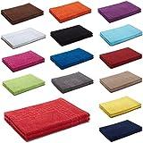 2er Packung Duschvorleger Badvorleger Badematte 50 x 70 cm 100% Baumwolle 700 g/m² , Farbe: Weiß