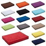 AR Line 2er Packung Duschvorleger Badvorleger Badematte 50 x 70 cm 100% Baumwolle 700 g/m², Farbe: Türkis