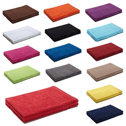 AR Line 2er Packung Duschvorleger Badvorleger Badematte 50 x 70 cm 100% Baumwolle 700 g/m², Farbe: Schokobraun