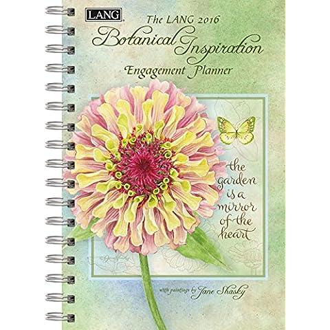 Lang inspiración botánicos 2016 planificador de compromiso, espiral de Jane Shasky, Enero a diciembre 2016, 6,25 x 22,86 cm (1011082)