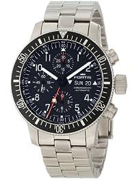 FORTIS 638.10.11M - Reloj para hombres, correa de acero inoxidable