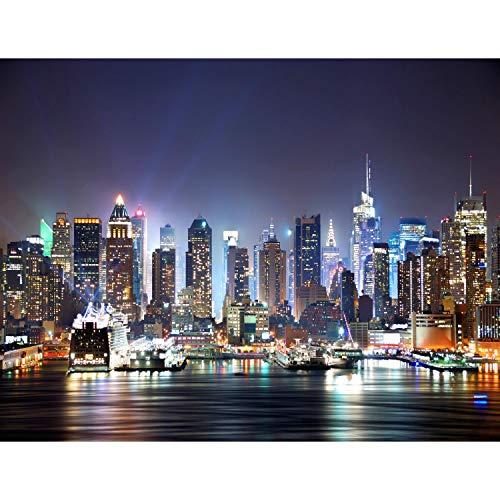Fototapeten New York 352 x 250 cm Vlies Wand Tapete Wohnzimmer Schlafzimmer Büro Flur Dekoration Wandbilder XXL Moderne Wanddeko - 100{bfd3fad926cbdea3733e8d773b5786efb6bd2f167ae227c9fdbdb1d757339420} MADE IN GERMANY - NY Stadt City Runa Tapeten 9038011a