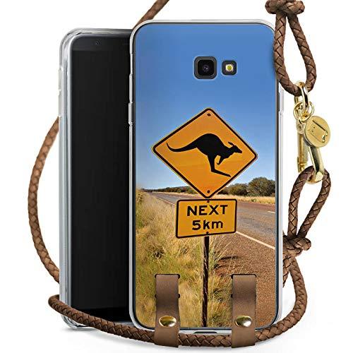 Outback Cross Body (DeinDesign Carry Case kompatibel mit Samsung Galaxy J4 Plus (2018) Handykette Handyhülle zum Umhängen Kangaroo Australien Outback)