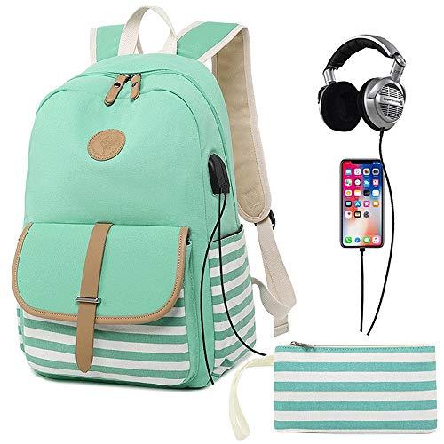 M-hwbb Leinwand Frauen Rucksack Schulrucksack College Casual Reisetasche Laptop Rucksack 14 Zoll für Mädchen Jugendliche (Farbe : Style C) (Scout Spielzeug Telefon)