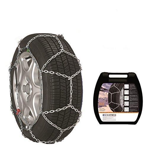 Schneeketten E12 (made by Thule) 9724080019 für die Reifengröße: 195/65 R15 mit eine Kettenstärke von 12 mm - Freigaben: Ö-Norm 5117, CUNA, TÜV
