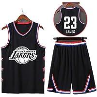 Trajes de Baloncesto para Hombres, Camiseta Lebron James-Lakers # 23, Camiseta sin Mangas Unisex, Temporada de Estrellas de 2019-5XL