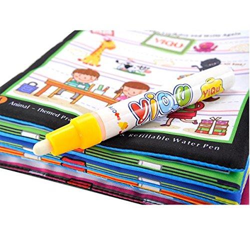 Libro di disegno dell'acqua magica Vovotrade Libro da colorare Doodle Magic Pen Animals Pittura
