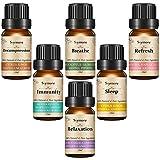 Skymore Ätherische Öle Set, 100% Pure Aroma Öle, Aromatherapie Duftöl Set für Diffuser/Duftlampen/Lufterfrischer Geeignet (Refresh, Sleep, Immunity, Relaxation, Decompression, Breathe) 6X10ml