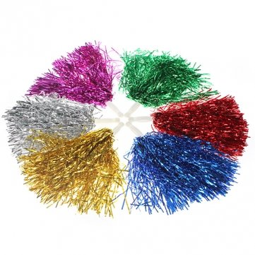 High Quality Metallic Cheerleader Cheer Pom Poms Dance Party Kostüm - - Pom Dance Kostüm