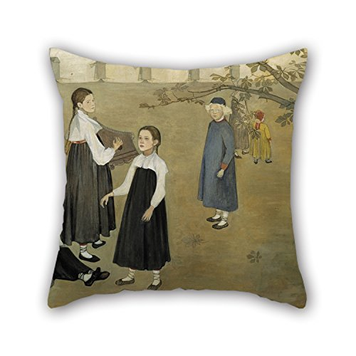beautifulseason 16 X 16 Inches/40 by 40 cm Oil Painting Beda Stjernschantz - Everywhere A Voice Invites Us Cushion Covers Twin Sides is Fit for Study Room Bench Couch Car Birthday Kids Boys