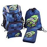 Depesche Monster Cars School Backpack Set (4??Parts) by Depesche
