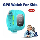 Hangang Smartwatch GPS Tracker Kids GPS Bambini Safe Smart Watch SOS Chiamata Location Finder Locator Tracker per Child Anti Lost Monitor Baby Son Wristwatch Blue