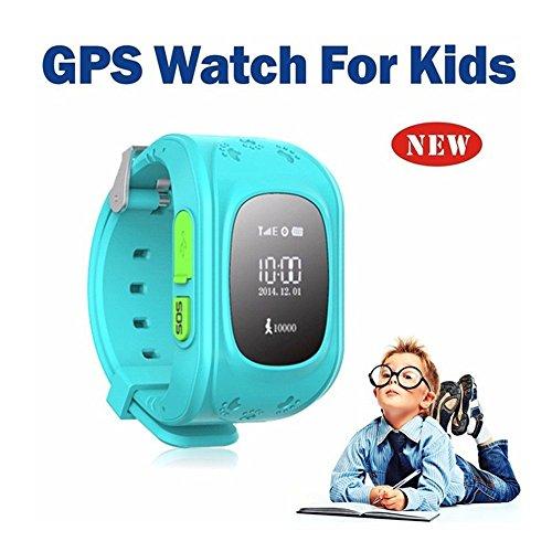 Hangang Reloj para Niños Smartwatch Niño para llamadas SOS localizador de dispositivo para niños seguro, antipérdida, reloj inteligente podómetro, rastreador GPS, regalos para niños, SOS